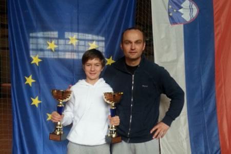 Državna prvakinja in podprvakinja do 14 let